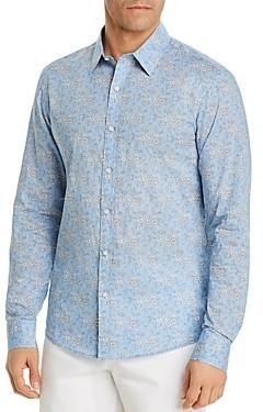 Michael Kors Liberty Capel Floral Print Button-Down Cotton Shirt