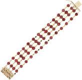 One Kings Lane Vintage 14K Gold & Cabochon Ruby Bracelet