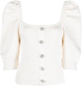 Giuseppe di Morabito Puff-Sleeve Knitted Top