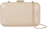 Accessorize Finlay Patent Hardcase Clutch Bag