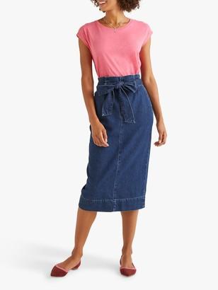 Boden Cara Denim Skirt, Blue Denim