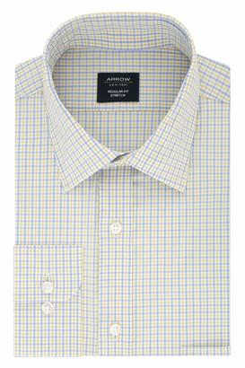 Arrow Mens Regular Fit Stretch Check Dress Shirt