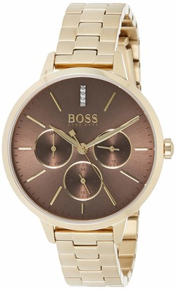 HUGO BOSS Unisex-Adult Multi dial Quartz Watch with Stainless Steel Strap 1502422