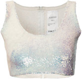 Ashish sequin crop top - women - Silk - XS