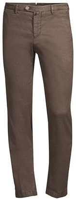 Kiton Twill Stripe Straight-Leg Pants