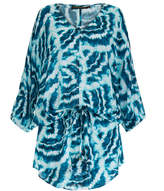 Vix Kay Green Shell Print Coverup