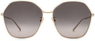 Givenchy Hexagon Sunglasses in Gold & Dark Grey | FWRD