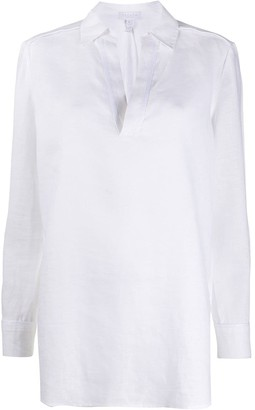 Escada Sport V-Neck Linen Blouse