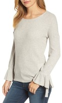 Lucky Brand Women's Tie Sleeve Rib Pullover
