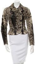 Alaia Calf Hair Button-Up Jacket