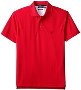 Nautica Men's Trim Fit Solid Tech Pique Polo Shirt