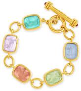 Elizabeth Locke Antique Animals Intaglio 19k Toggle Bracelet, Pastel/Multicolor