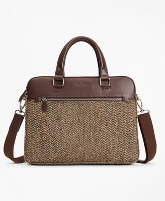 Brooks Brothers Wool Herringbone Briefcase