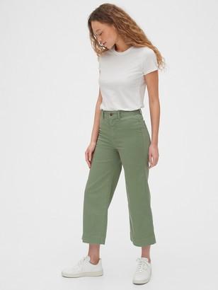 Gap High Rise Wide-Leg Crop Khakis