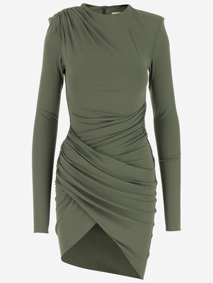 Alexandre Vauthier Asymmetrical Draped Mini Dress