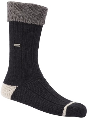 Sorel Women's Wool Texture Turn Over Cuff Crew Socks
