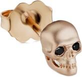 Maria Tash Large Matte Skull with Diamond Eyes Threaded Stud Earring