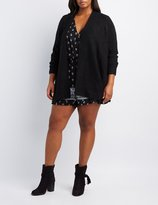 Charlotte Russe Plus Size Fuzzy Blanket Cardigan
