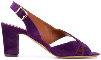 Michel Vivien Velvet Heeled Sandals