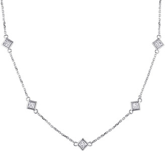 Diamond Select Cuts 14K 0.80 Ct. Tw. Diamond Station Necklace