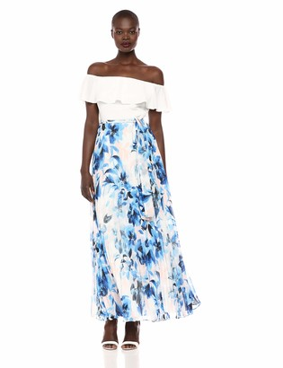 Eliza J Women's Off The Shoulder Ruffle Floral Maxi Dress