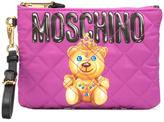 Moschino crowned bear clutch - women - Leather/Nylon - One Size