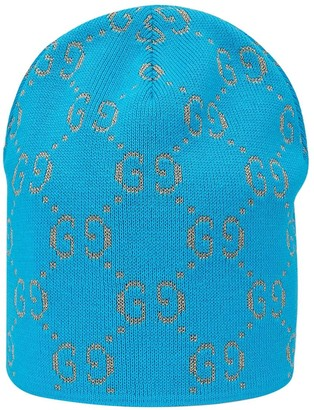 Gucci Kids Cotton hat with GG motif in lame