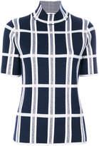 Victoria Beckham tartan checked blouse