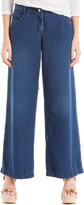 Max Studio Indigo Wash Wide-Leg Trousers