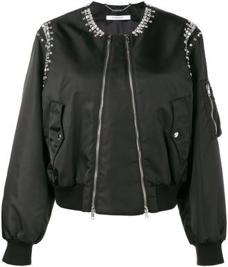 Givenchy Rhinestone Embellished Bomber Jacket