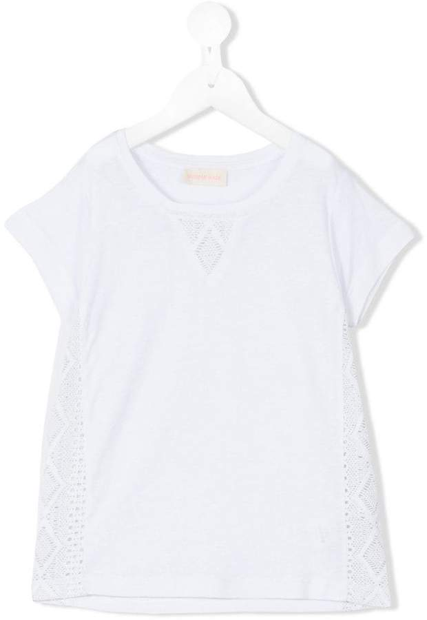 Simple embroidered detail T-shirt