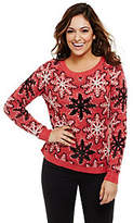 Bethany Mota Knit Snowflake Sweater withSequin Detail