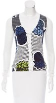 Moschino Cheap & Chic Moschino Cheap and Chic Perforated Floral Cardigan