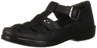 Easy Street Shoes Women's Dorothy t-Strap Comfort Casual Mary Jane Flat