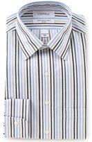 Daniel Cremieux Non-Iron Fitted Classic-Fit Spread Collar Striped Dress Shirt
