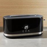 Crate & Barrel KitchenAid ® Onyx Black 4-Slice Long Slot Toaster