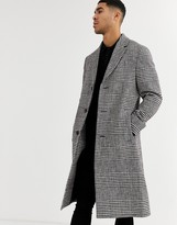 Calvin Klein glencheck long coat
