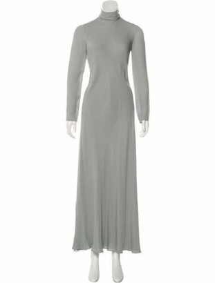 Valentino Silk Long Sleeve Dress