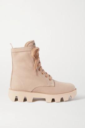 Prada Denim Ankle Boots - Beige