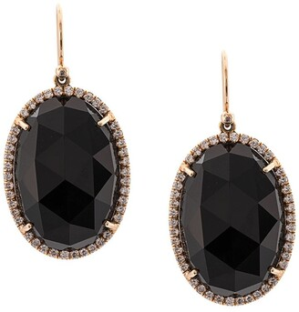 Irene Neuwirth 18kt Rose Gold Onyx Drop Earrings