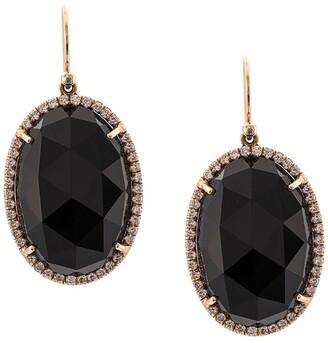 Irene Neuwirth 18kt rose gold onyx drop earrings