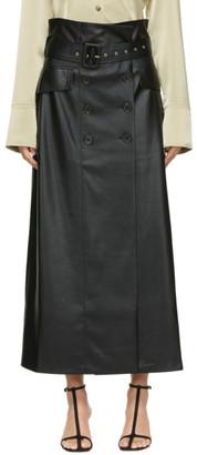 Nanushka Black Vegan Leather Zane Skirt