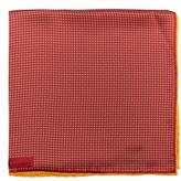 Robert Talbott Men's Geometric Silk Pocket Square