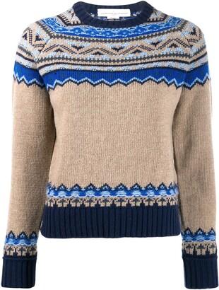 Golden Goose merino wool knitted print sweater