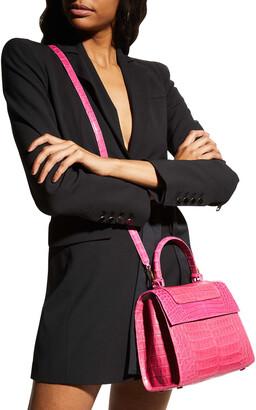 Nancy Gonzalez Lily Medium Tricolor Crocodile Top-Handle Bag