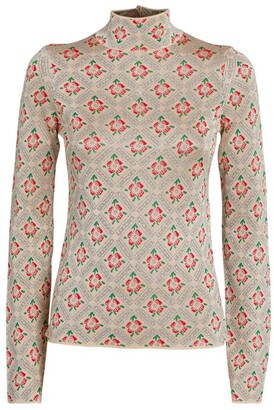 Paco Rabanne Floral Tile Print Sweater