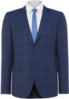 Hugo Helum Slim Fit Windowpane Check Suit Jacket