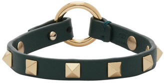 Valentino Green Garavani Thin Rockstud Bracelet