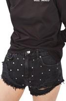 Topshop Women's Kiri Stud Ripped Denim Shorts