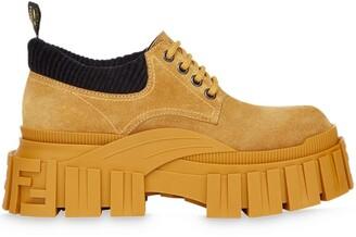 Fendi Chunky Sole Lace-Up Shoes